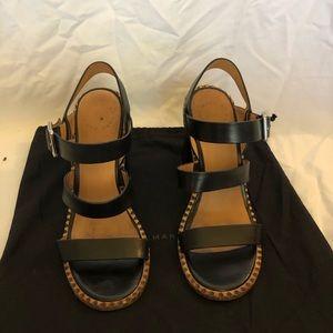 marc by marc jacobs black chunky heeled sandal.